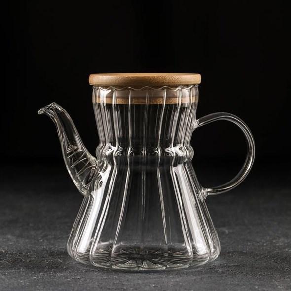Чайник стеклянный заварочный 600 мл - фото 27745
