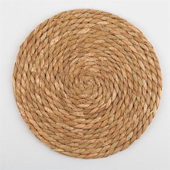 Салфетка сервировочная плетеная 25 см - фото 27781