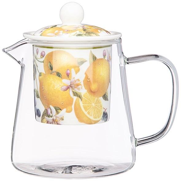 "Чайник заварочный ""Лимоны"" 400 мл - фото 27807"