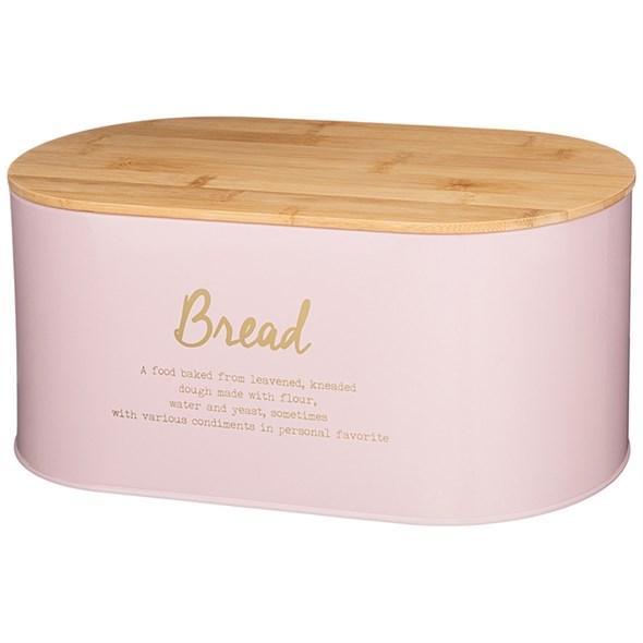Хлебница металлическая розовая - фото 27820