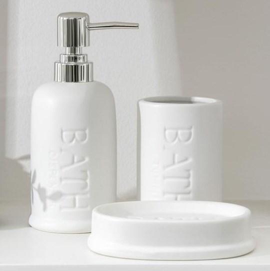 Набор для ванной комнаты белый - фото 27930