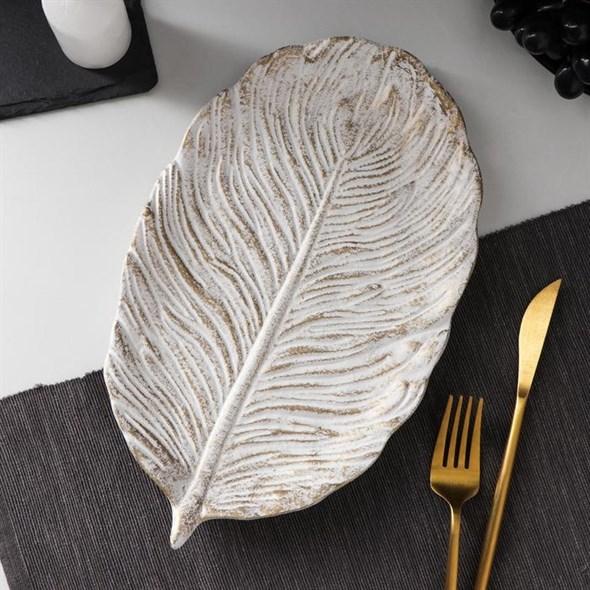 Блюдо деревянное 30х18 см - фото 27940