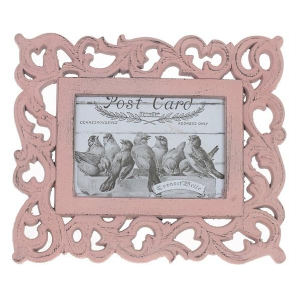 Фоторамка резная розовая для фото 11х16 см - фото 28314