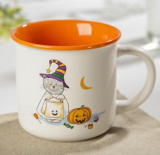 """Кружка """"Кот на хэллоуин"""" 320 мл - фото 28541"""