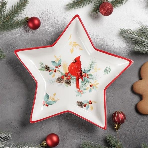 """Блюдо """"Новогодняя звезда"""" 25х23 см - фото 28657"""