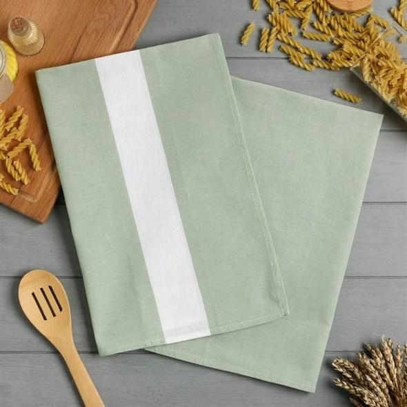 """Набор полотенец """"Пастель"""" зеленый, хлопок - фото 28838"""