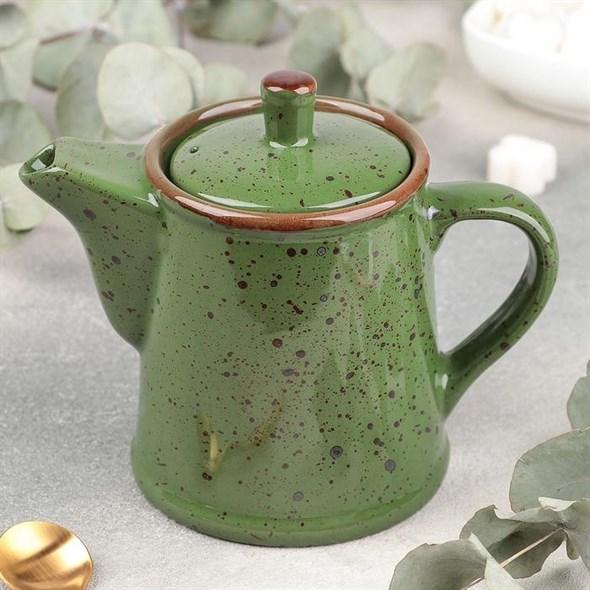 Чайник керамический 500 мл зеленый - фото 28886