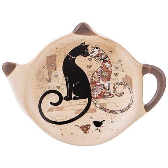 """Подставка для чайных пакетиков """"Парижские коты"""" - фото 29128"""