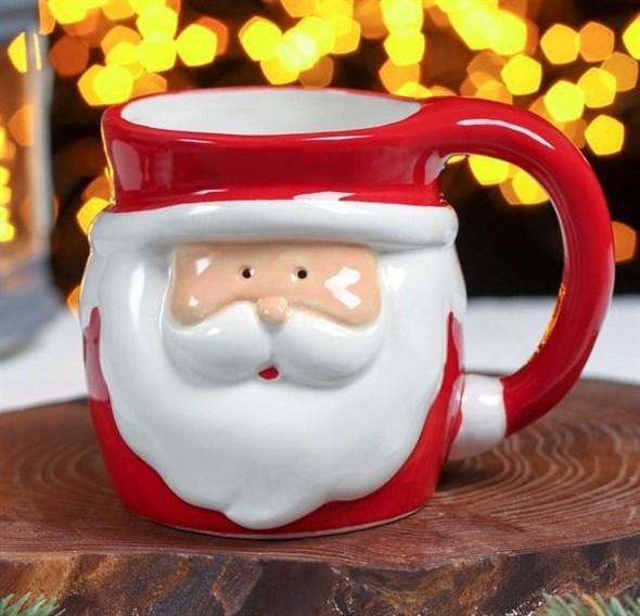 """УЦЕНКА. Кружка """"Дед Мороз"""" 400 мл (см. фото) - фото 29406"""
