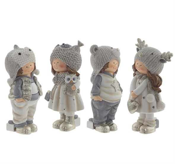 """Статуэтка """"Дети в шапках"""", цена за штуку - фото 29444"""