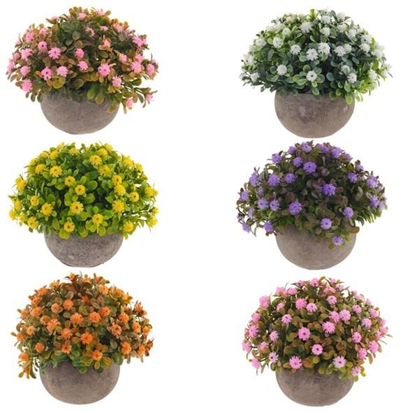 Цветы искусственные в кашпо, цена за штуку - фото 29446
