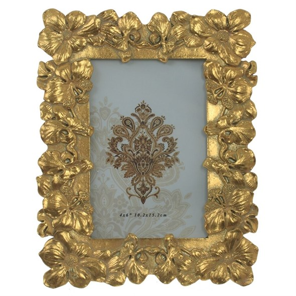 """Фоторамка """"Золотые цветы"""" для фото 10х15 см - фото 29450"""
