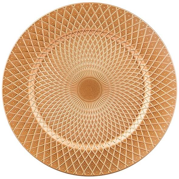 Поднос пластиковый золотистый - фото 29460