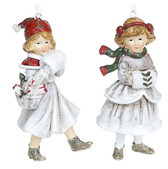 """Елочная игрушка """"Девочка с муфтой"""", цена за штуку - фото 29472"""