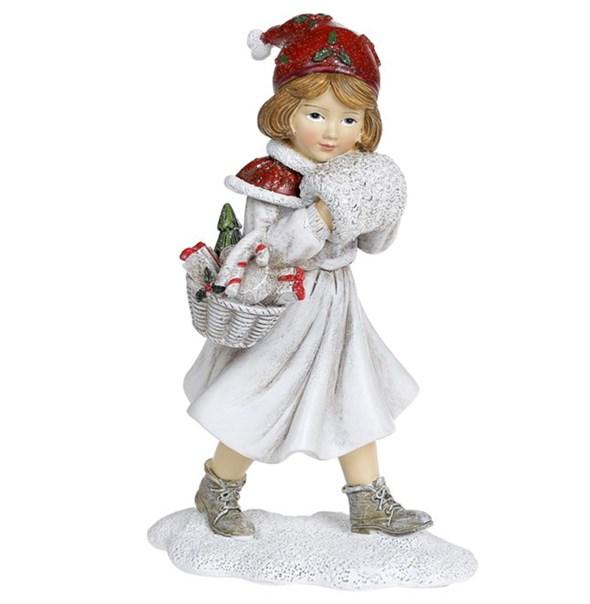 "Статуэтка ""Девочка с подарками"" 19 см - фото 29480"
