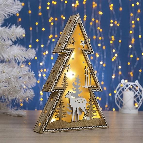 Декоративная елка с подсветкой 30 см - фото 29496