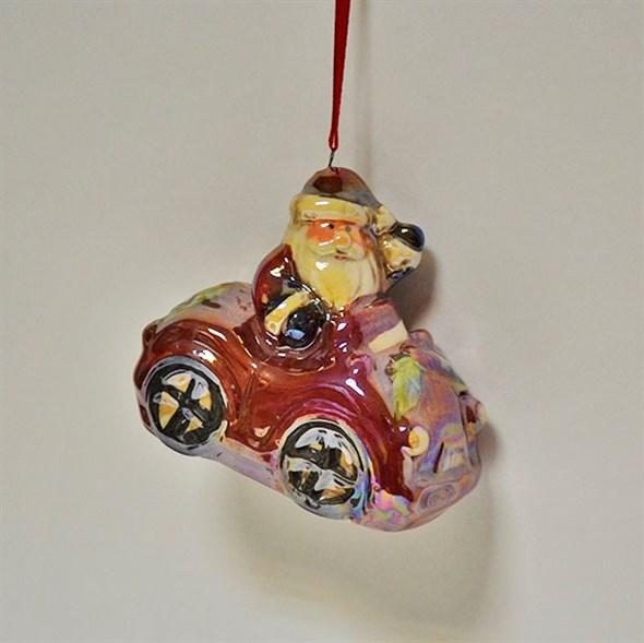 "Елочная игрушка ""Дед Мороз на машине/на вертолете"" - фото 5200"