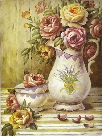 """Панно """"Розы в Провансе"""" - фото 5927"""