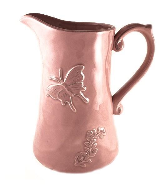 """Кувшин керамический розовый """"Бабочка"""" - фото 5950"""