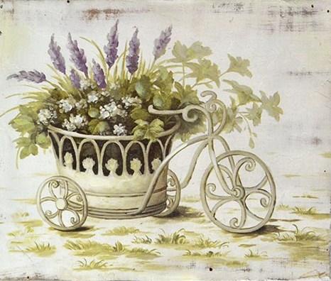 """Панно """"Лаванда в велосипеде"""" - фото 6006"""