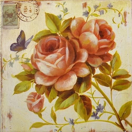 """Панно """"Ветка с розой"""" - фото 6449"""
