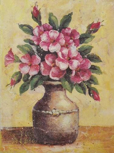 """Панно """"Цветы в вазе"""" - фото 6451"""