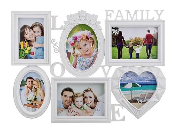 """Фоторамка на шесть фотографий """"Любимая семья"""" - фото 6657"""