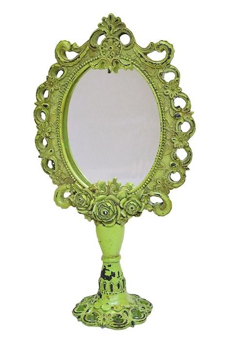 Зеркало настольное зеленое - фото 6832