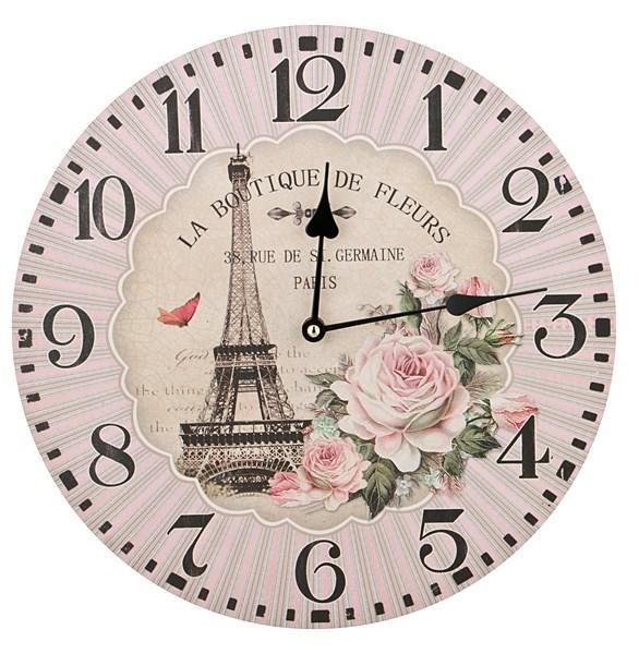 """Часы настенные """"Цветы Парижа"""" - фото 7045"""