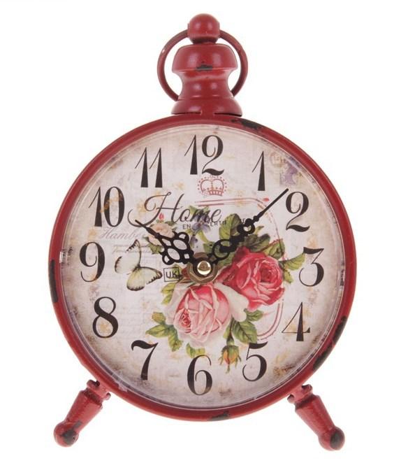 """Часы настольные """"Красные розы"""" - фото 7106"""