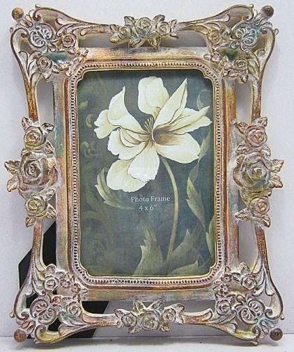 """Фоторамка """"Бежевые розы"""" прямоугольная 10х15 см - фото 7424"""