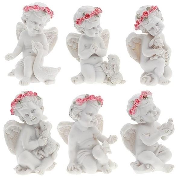 """Статуэтка """"Ангел с животным"""", цена за 1 шт - фото 7463"""