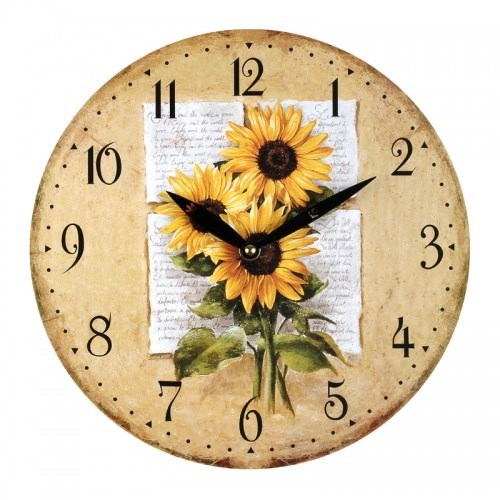 """Часы настенные """"Подсолнухи"""" - фото 7516"""