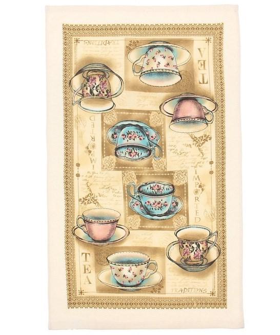 """Полотенце кухонное """"Чайный сервиз"""" 35х61 см, 100% хлопок - фото 7546"""