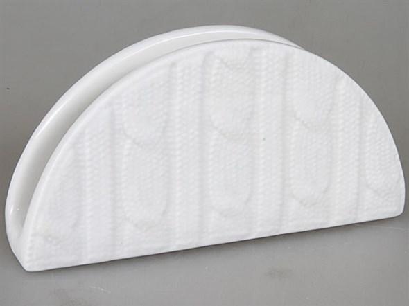 Салфетница керамическая вязанная - фото 7593
