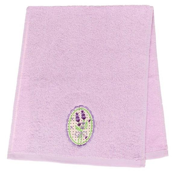 """Полотенце махровое """"Букет лаванды"""" в подарочной упаковке, 30х70 см - фото 7672"""
