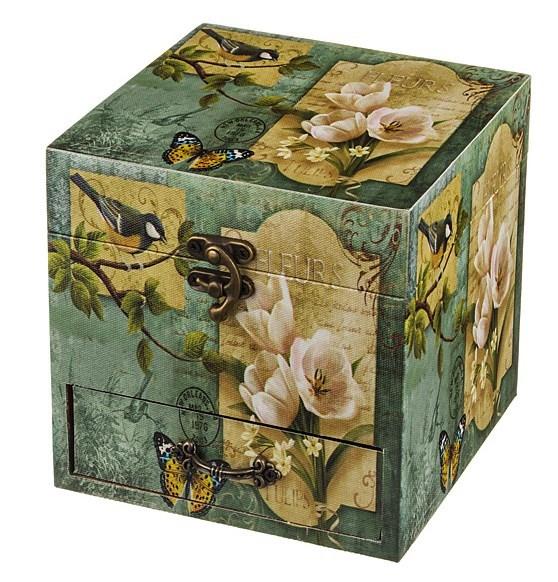 """Шкатулка для украшений """"Весна"""" с двумя ящиками - фото 7705"""