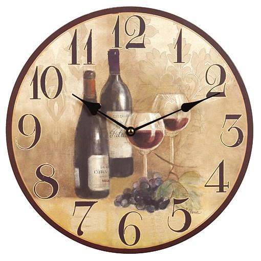 """Часы настенные """"Вино"""" - фото 7719"""
