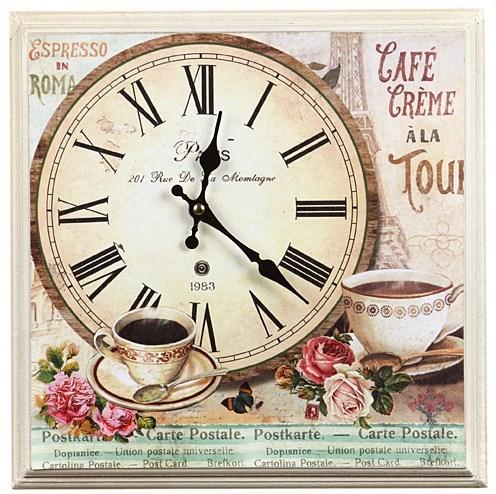 """Часы-панно в раме """"Кафе Парижа"""" - фото 7720"""
