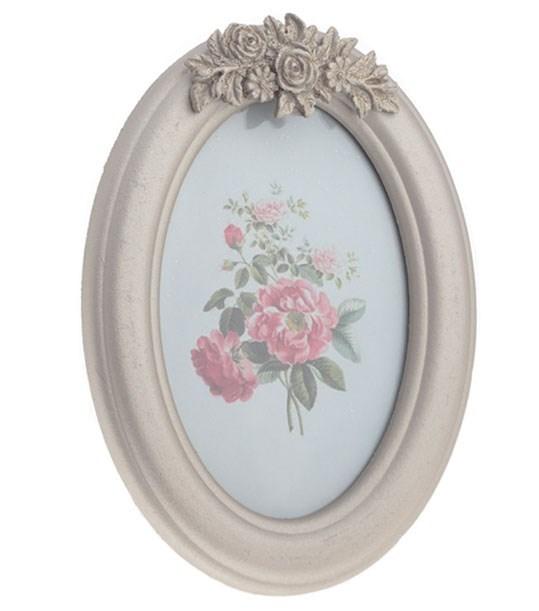 """Фоторамка овальная """"Серебристые розы"""", 10х15 см - фото 7808"""