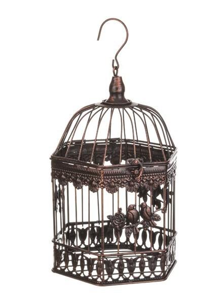 """Клетка многоугольная малая коричневая """"Птицы"""" - фото 7837"""