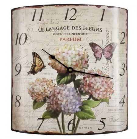 """Часы настенные металлические """"Бабочки и цветы"""" - фото 7900"""