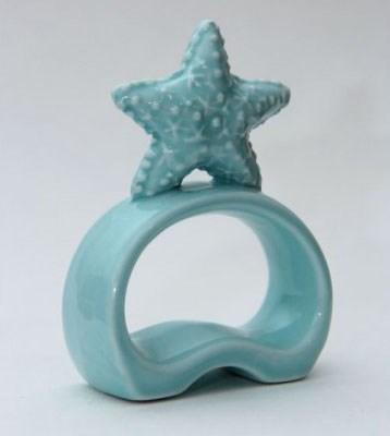 """Кольцо для салфеток керамическое """"Морская звезда"""" - фото 7991"""