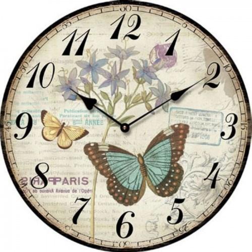 """Часы настенные """"Бабочки и цветы"""" - фото 8002"""