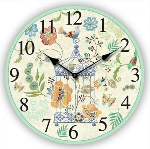 """Часы настенные """"Клетка с птицей"""" - фото 8018"""