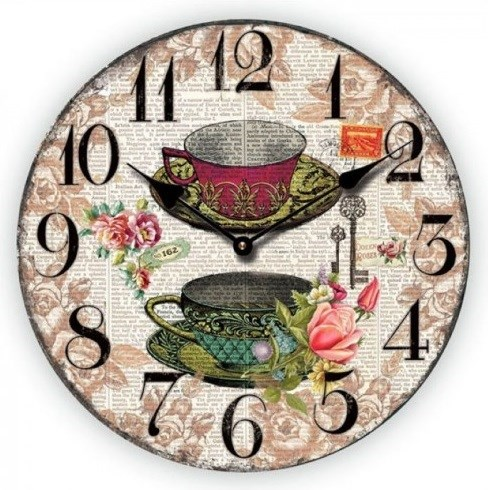 """Часы настенные """"Завтрак для двоих"""" - фото 8019"""