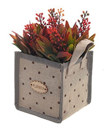 Цветы искусственные в сумочке красные - фото 8331