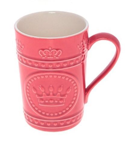 """Кружка """"Царская"""" розовая, 420 мл - фото 8346"""