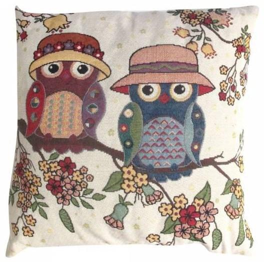 """Подушка из гобелена """"Две совы"""" - фото 8348"""