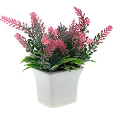 Цветок искусственный в горшке розовый - фото 8372